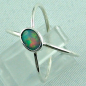 Preview: Sterling Silberring mit Top GEM Welo Opal 0,50 ct, Bild2