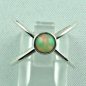 Preview: Sterling Silberring mit Top GEM Welo Opal 0,78 ct, Bild1