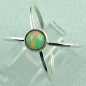 Preview: Sterling Silberring mit Top GEM Welo Opal 0,78 ct, Bild2