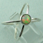 Preview: Sterling Silberring mit Top GEM Welo Opal 0,78 ct, Bild6