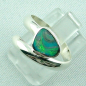 Preview: 925er Sterling Silberring Black Picture Opal 0,56 ct, Bild2