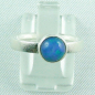 Mobile Preview: 925er Silberring Damen-Opalring mit 1,10 ct Welo Opal, Bild1