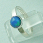 Mobile Preview: 925er Silberring Damen-Opalring mit 1,10 ct Welo Opal, Bild2