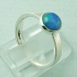 Mobile Preview: 925er Silberring Damen-Opalring mit 1,10 ct Welo Opal, Bild5