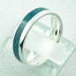 Preview: Opalring 3,11 gr., Bandring, Silberring mit Opal Inlay sea green, Bild3