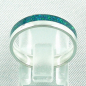 Preview: Opalring 3,11 gr., Bandring, Silberring mit Opal Inlay sea green, Bild4