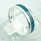 Preview: Opalring 3,11 gr., Bandring, Silberring mit Opal Inlay sea green, Bild5