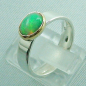 Preview: 5,80 gr Opalring, Silberring, 1,14 ct Welo Opal in Gold, Bild3