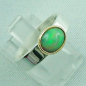 Preview: 5,80 gr Opalring, Silberring, 1,14 ct Welo Opal in Gold, Bild6