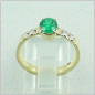 Preview: 14k Damenring 1,15 ct Smaragd, Diamanten 0,20 ct, Bild4