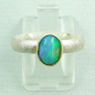 Preview: Silberring 1,05 ct Welo Opal in 14k Gold, Opalring, Bild1