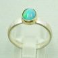 Preview: Silberring 1,05 ct Welo Opal in 14k Gold, Opalring, Bild4