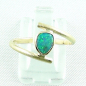 Preview: 18k Opalring, 750er Goldring, 0,64 ct Black Crystal Opal, Bild1