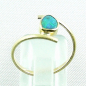Preview: 18k Opalring, 750er Goldring, 0,64 ct Black Crystal Opal, Bild4