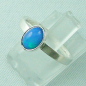Preview: 925er Silberring Damen-Opalring mit 0,80 ct Welo Opal, Bild2