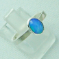 Preview: 925er Silberring Damen-Opalring mit 0,80 ct Welo Opal, Bild6