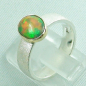 Mobile Preview: 925er Silberring mit 1,07 ct Welo Opal, 14k Goldfassung, Bild3