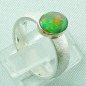 Mobile Preview: 925er Silberring mit 1,07 ct Welo Opal, 14k Goldfassung, Bild5