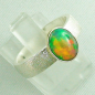 Mobile Preview: 925er Silberring mit 1,07 ct Welo Opal, 14k Goldfassung, Bild6