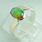 Preview: Massiver Sterling Silberring mit 1,12 ct Welo Opal  - Silberringe online kaufen!