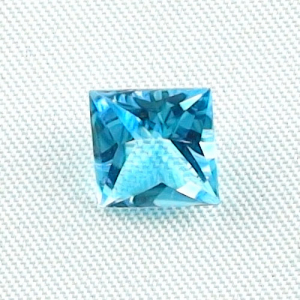 AAA Custom Square Cut Blautopas 2,65 ct Swiss Blue