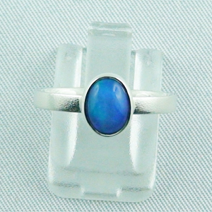 Sterling Silberring mit 0,59 ct Welo Opal - 925er Opalring
