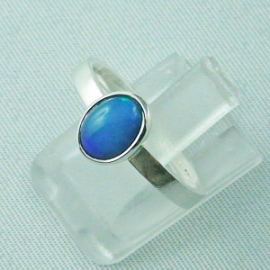 Sterling Silberring mit 0,59 ct Welo Opal - 925er Opalring, Bild2