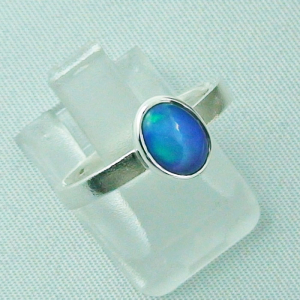 Sterling Silberring mit 0,59 ct Welo Opal - 925er Opalring, Bild6