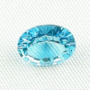 2,65 ct AAA Blautopas Swiss Blue - custom oval cut - Mit Video & Zertifikat
