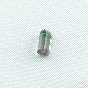 1,84 ct Turmalin pink grün octagon bar 8,65 x 5,21 x 4,33 mm Mischfarbe