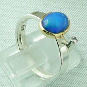 4,66 gr Silberring, Welo Opal 1,23 ct in 18k Gold u Diamant, Bild5