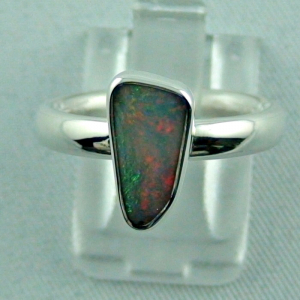 Sterling Silberring mit Top Semi Black Opal 1,30 ct