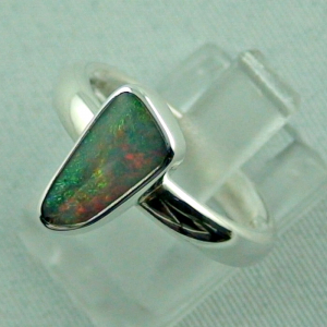Sterling Silberring mit Top Semi Black Opal 1,30 ct, Bild2
