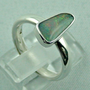Sterling Silberring mit Top Semi Black Opal 1,30 ct, Bild5