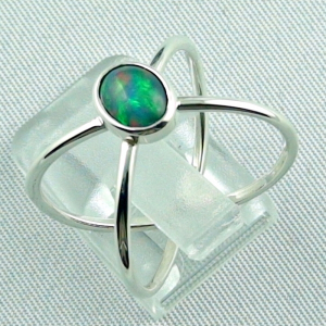 Massiver Silberring mit Welo Opal 0,69 ct Opalring, Bild3