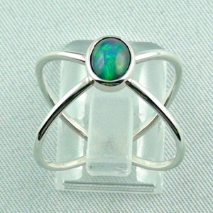 Massiver Silberring mit Welo Opal 0,69 ct Opalring, Bild4