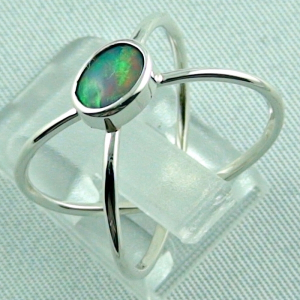 Sterling Silberring mit Top GEM Welo Opal 0,50 ct, Bild3