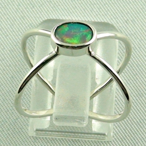 Sterling Silberring mit Top GEM Welo Opal 0,50 ct, Bild4