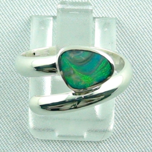 925er Sterling Silberring Black Picture Opal 0,56 ct