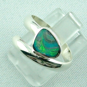 925er Sterling Silberring Black Picture Opal 0,56 ct, Bild2