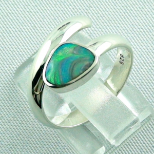 925er Sterling Silberring Black Picture Opal 0,56 ct, Bild3