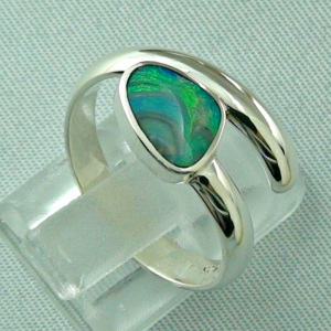 925er Sterling Silberring Black Picture Opal 0,56 ct, Bild5