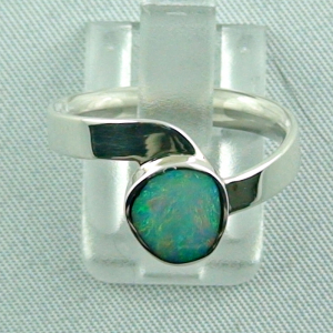 Sterling Silberring mit Top GEM White Opal 1,13 ct
