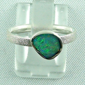 Sterling Silberring mit Top GEM Black Opal 0,77 ct