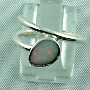 925er Sterling Silberring mit White Opal 0,67 ct