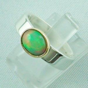 5,80 gr Opalring, Silberring, 1,14 ct Welo Opal in Gold, Bild2