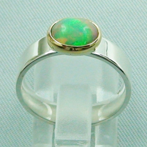 5,80 gr Opalring, Silberring, 1,14 ct Welo Opal in Gold, Bild4