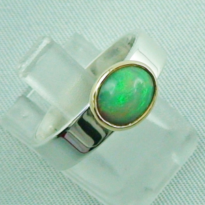 5,80 gr Opalring, Silberring, 1,14 ct Welo Opal in Gold, Bild6