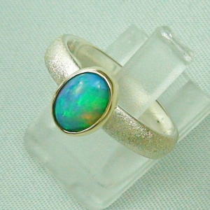 Silberring 1,05 ct Welo Opal in 14k Gold, Opalring, Bild2