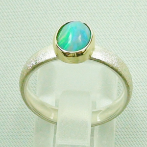 Silberring 1,05 ct Welo Opal in 14k Gold, Opalring, Bild4